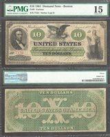 $20 1861 DEMAND NOTE BOSTON Fr.8 PMG CHOICE FINE 15