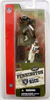 McFarlane NFL 3 Inch Action Figures Series 1: Chad Pennington / Jerry Rice