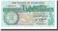 1 Pound Undated Guernsey Banknote, Km:48a
