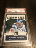 2016 Donruss Optic Football Russell Wilson Gridiron Kings PSA 10 Seahawks