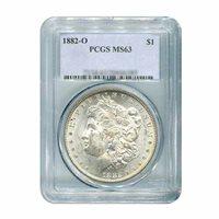 1882-O $1 Morgan Silver Dollar - PCGS MS63