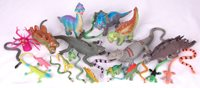 Lot of 9 Dinosaurs & Reptiles-Animal Toys Figures-Various Brands-