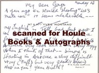 YVES MONTAND - LETTER - SIGNED - - CUKOR - MARILYN MONROE