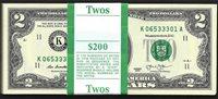 $2 2013 FRN ORIGINAL PACK 100 CONSECUTIVE NOTES IN BEP BAND GEM CU