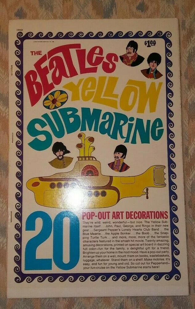 Beatles Yellow Submarine Pop Out Art Decorations 10564