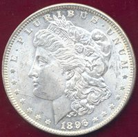 1896 MORGAN $1 MS64