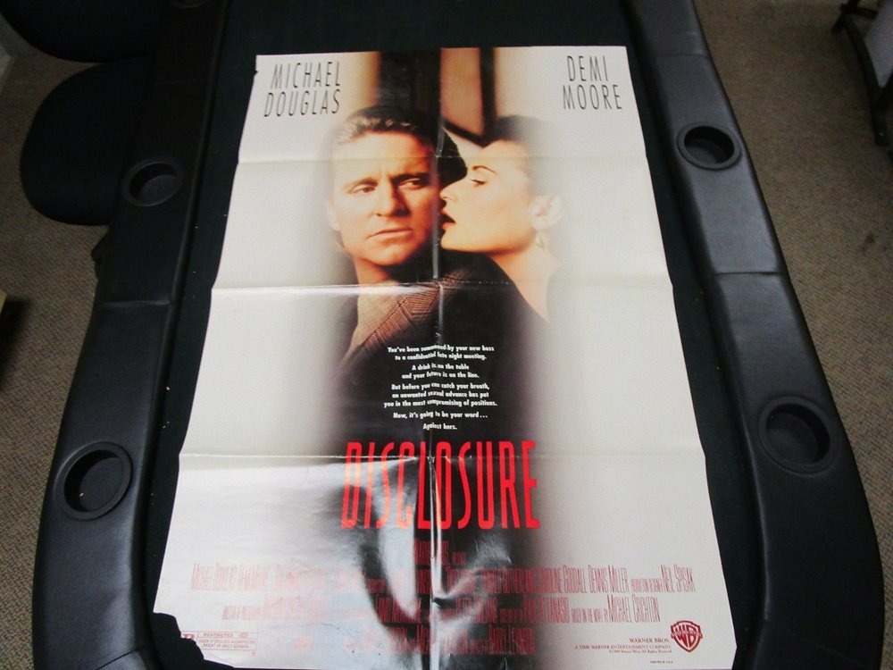 Vintage 1 Sheet 27x41 Movie Poster Disclosure 1994 Mich