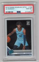 2019-20 PANINI OPTIC #168 ROOKIE RC CARD JA MORANT - PSA 10 - GRIZZLIES HOT !!!