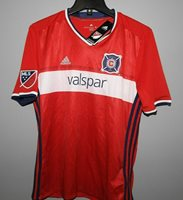 Adidas Climacool Chicago Fire White /& Red Soccer Jersey Youth Boys  NWT