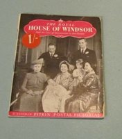 1950 The Royal House of Windsor Pitkin Postal Pictorial Booklet Royalty Photos