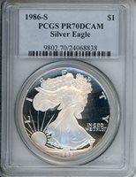 1986 S $1 PCGS PR70DCAM 24068838