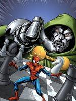 Marvel Adventures Spider-Man No.9 Cover: Spider-Man and Dr. Doom