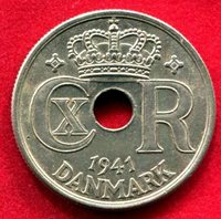 Faeroe Islands - 1941 25 ore in CH Unc with tiny dig