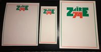 ZAIRE 74 / Mohamed Ali Milton Glaser original Vintage Stationary very rare
