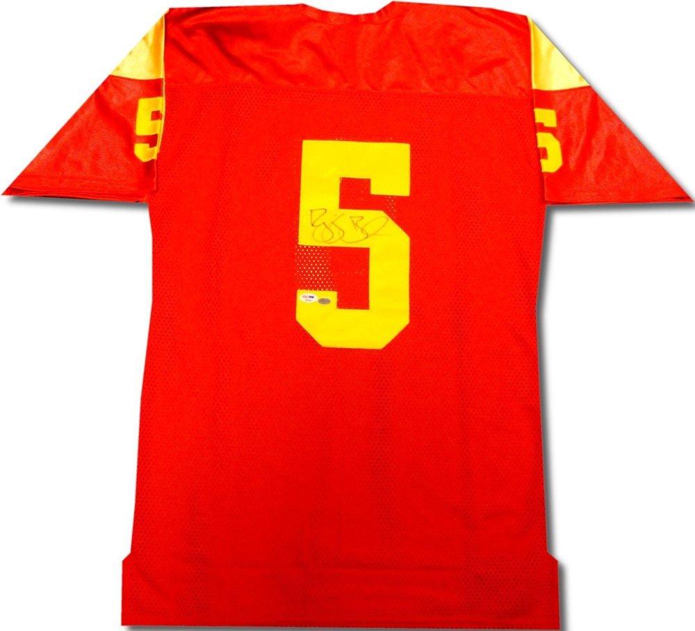 016412c8b Reggie Bush Hand Signed Autographed USC Trojans Jersey PSA DNA. Click To  Enlarge