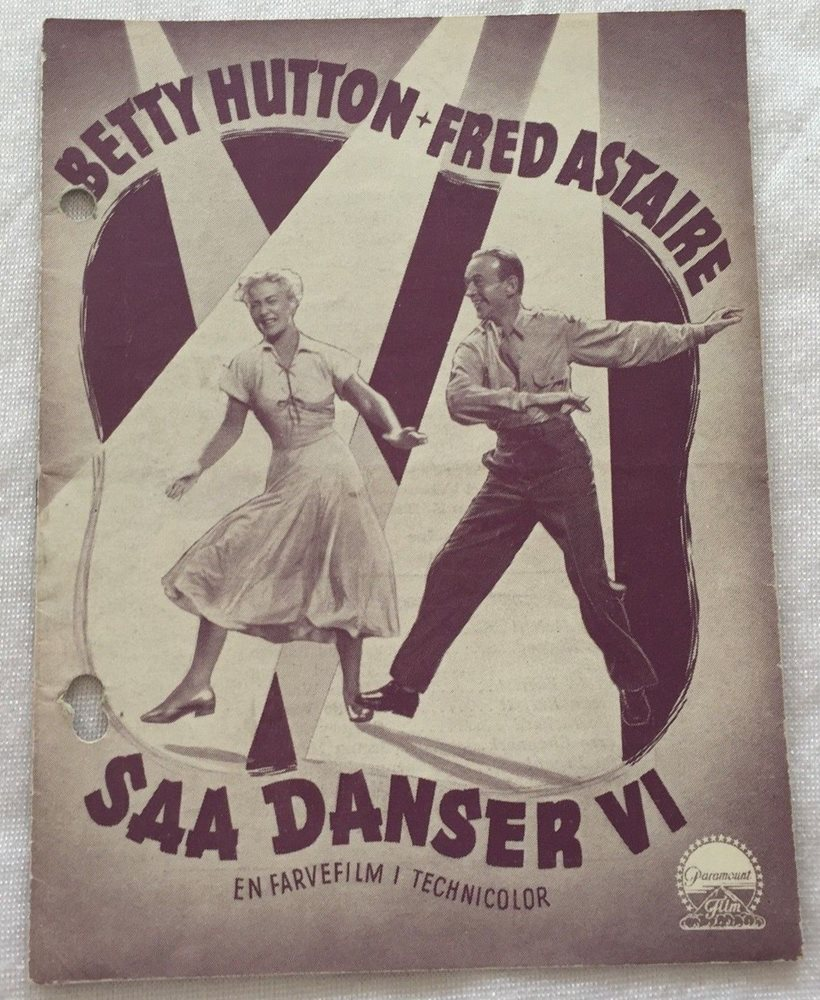 Let S Dance Betty Hutton Fred Astaire Roland Young Vtg