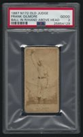 1887 OLD JUDGE N172 FRANK GILMORE (BALL IN R/HAND ABOVE HEAD) PSA 2