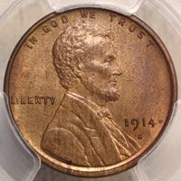 1914-S Lincoln Cent, Choice Uncirculated, Rare
