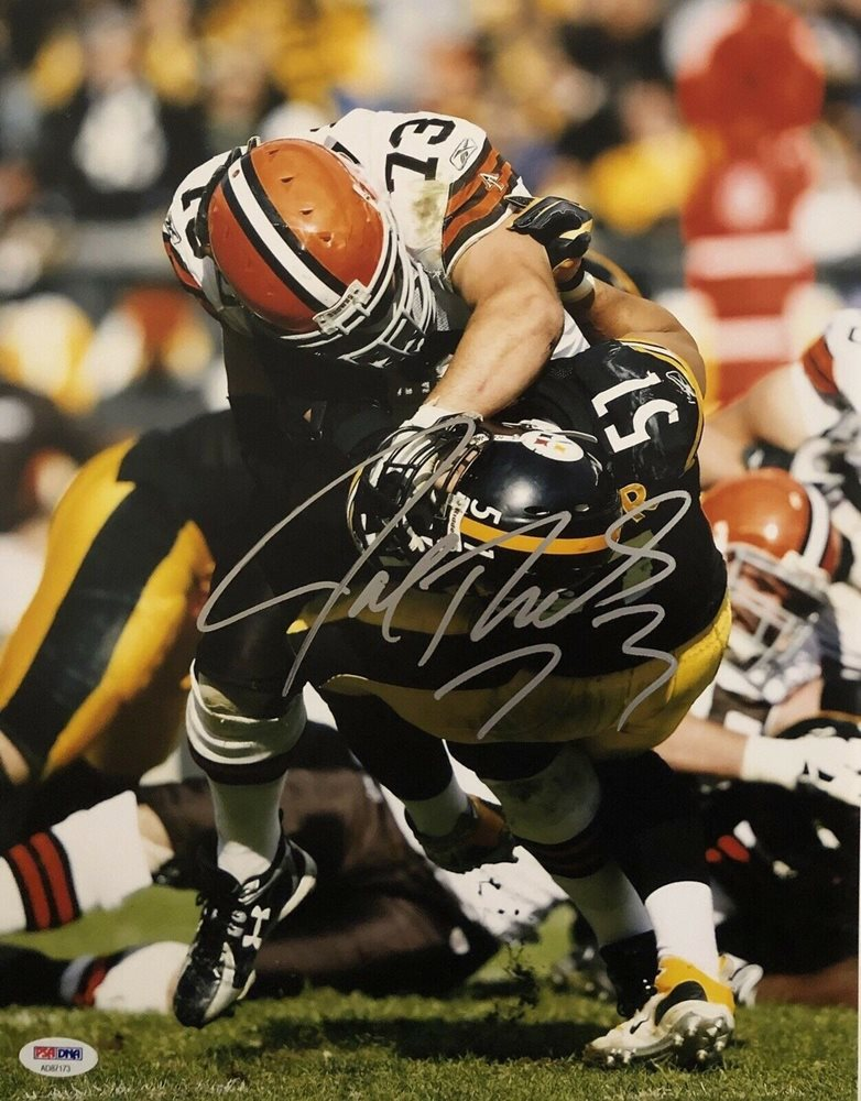 on sale 9308e 55151 Joe Thomas Autographed Signed Cleveland Browns 11x14 Photo Hof  PSA/DNACUSTOM FRAME YOUR JERSEY