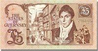 5 Pounds Guernsey Banknote, Km:53a