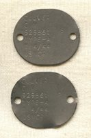 Pair WWII US Marine Corps Reserve Dog Tags for Charles Melvin (C.M.) Culver