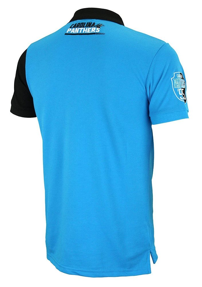 7d8f8f394 KLEW NFL Football Men s Carolina Panthers Rugby Diagona