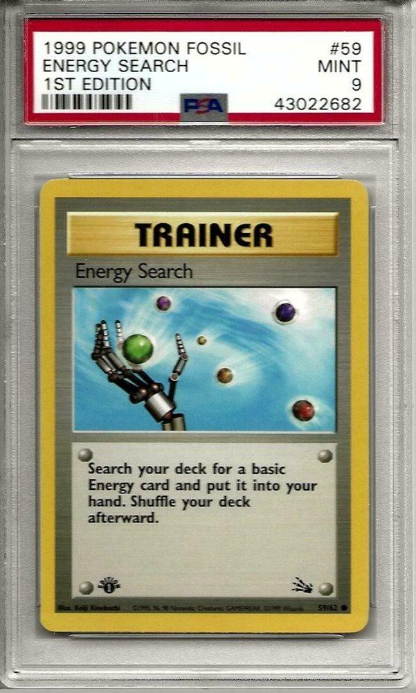 Fossil Set 1999 Near Mint Energy Search 59//62 Pokemon Card