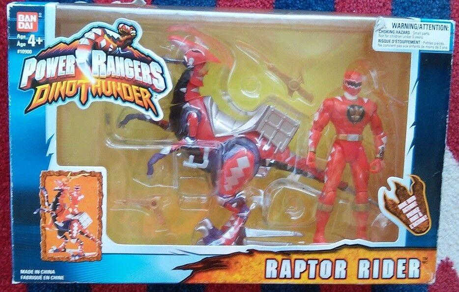 Power Rangers Dino Thunder Red RAPTOR Rider Ranger Action Figure NeW  Original Bx