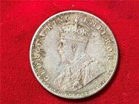 BRITISH INDIA 1920 KING GEORGE V ONE RUPEE UNC TONED