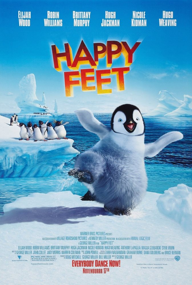 HAPPY FEET (2006) ORIGINAL MOVIE POSTER - ROLLED - DOUB