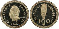 NEW HEBRIDES 1966 AR Essai 100 Francs PCGS SP66 KM E1; Lec.-58.