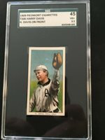 T206 Harry Davis H. Davis On Front Piedmont 150 SGC 3.5