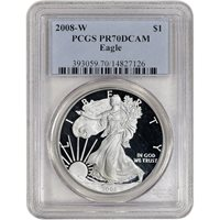 2008-W American Silver Eagle Proof - PCGS PR70 DCAM