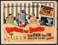 Bedtime for Bonzo Vintage Movie Poster Half Sheet Ronald Reagan