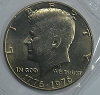 1776-1976 Kennedy Bicentennial Half Dollar Brilliant Uncirculated Original Mint Cello