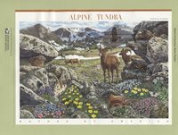 #4198 41c Alpine Tundra Sheet of 10 Stamps USPS #0737 Souvenir Page