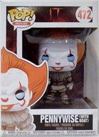 """PENNYWISE with BOAT (BLUE EYES) IT Pop Movies 4"""" Vinyl Figure #472 Funko 2017"""