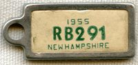 1955 New Hampshire DAV (Disabled American Veterans) Mini License Plate Key Tag (IdentoTag)